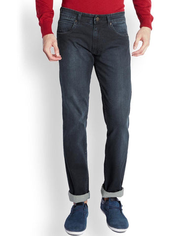 Park Avenue  Green Low Rise Tapered Fit Jeans