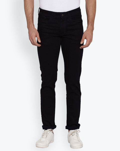 Park Avenue Medium Blue Tapered Fit Jeans