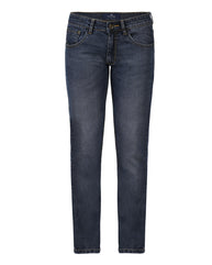 Park Avenue Fancy Blue Low Rise Tapered Fit Jeans