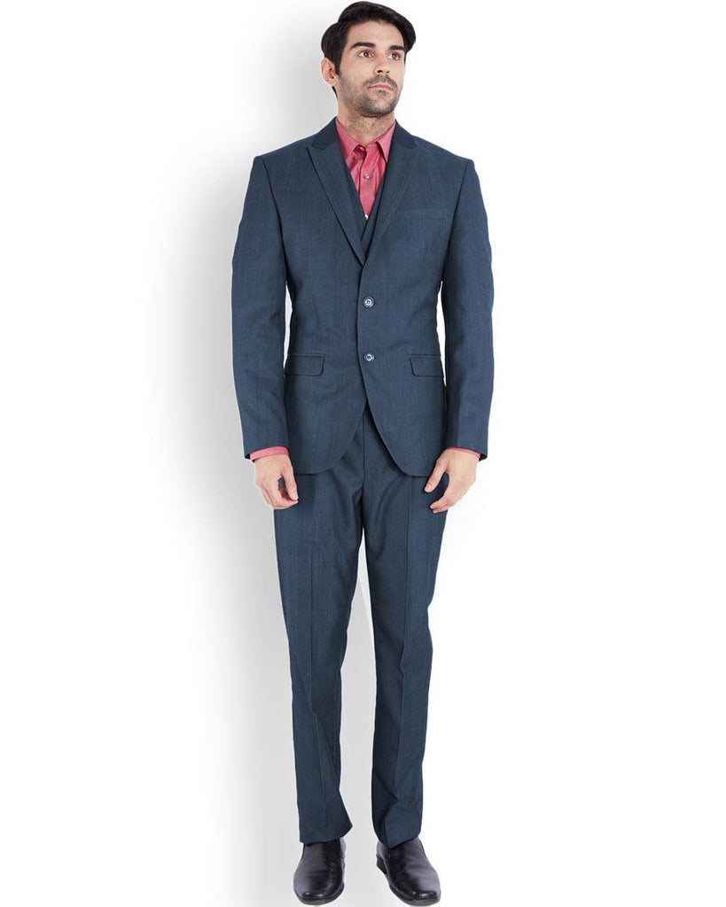 Park Avenue  Blue Regular Fit Suit