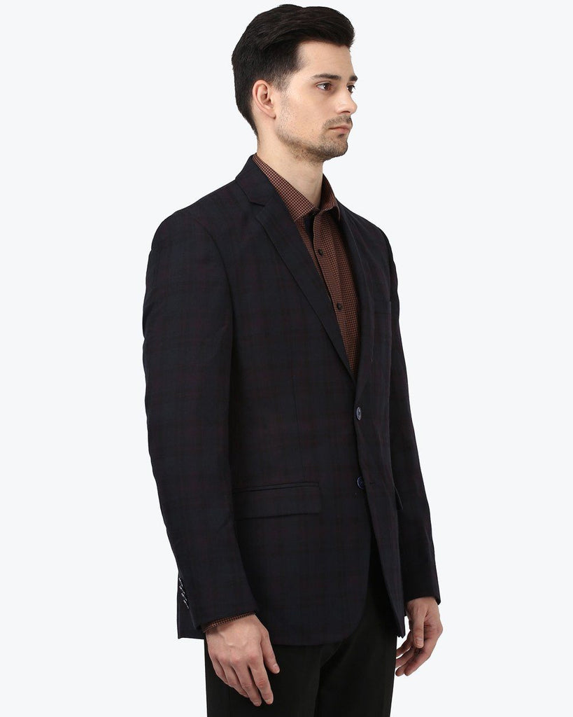 Park Avenue Purple Slim fit Suit