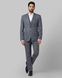 Park Avenue Medium Grey Regular Fit Suit