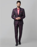 Park Avenue Maroon Regular Fit Suit