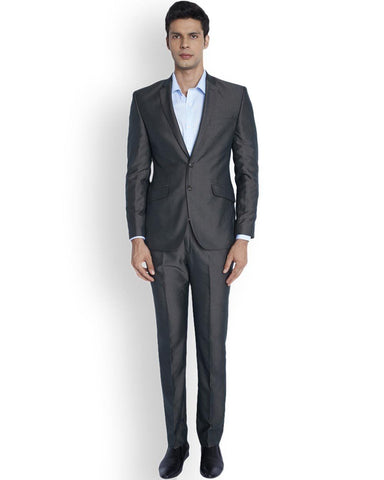 Park Avenue  Brown Regular Fit Suit