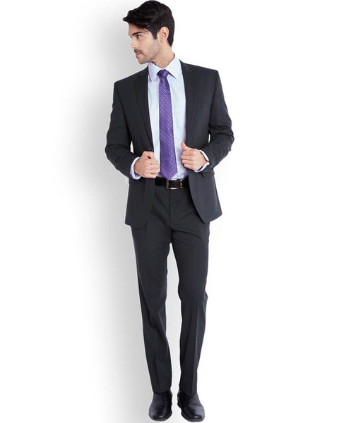 Park Avenue Dark Blue Regular Fit Suit