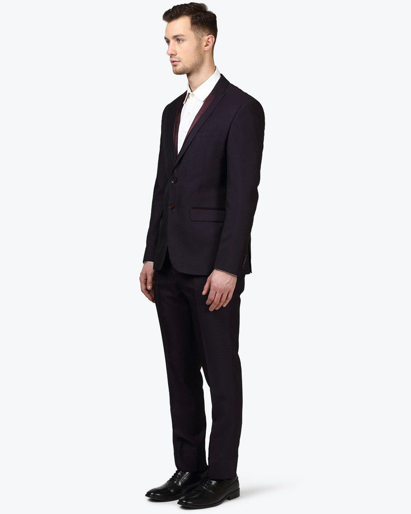 Park Avenue Maroon Super Slim Fit Suit