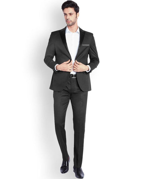 Park Avenue  Black Regular Fit Suit