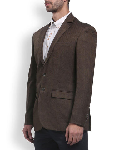 Park Avenue Brown Slim Fit Jacket