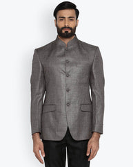 Park Avenue Dark Grey Regular Fit Jacket