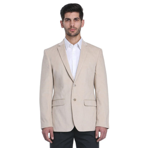Park Avenue  Pink Men's Slim Fit Blazer