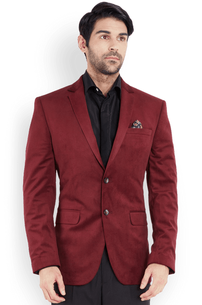 Park Avenue  Maroon Regular Fit Jacket