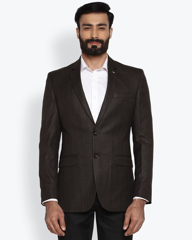 Park Avenue Dark Brown Regular Fit Jacket