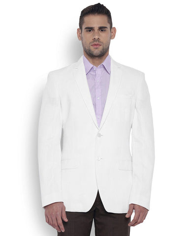 Park Avenue Men Linen White Regular Fit Jackets