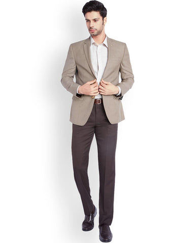 Park Avenue  Beige Regular Fit Jacket