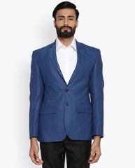 Park Avenue Medium Blue Super Slim Fit Jacket