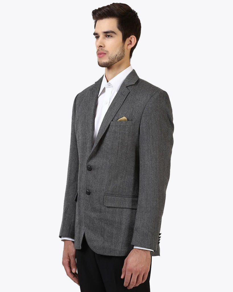 Park Avenue Grey Slim Fit Jacket