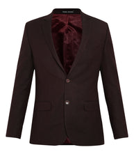 Park Avenue Dark Brown Slim Fit Blazer