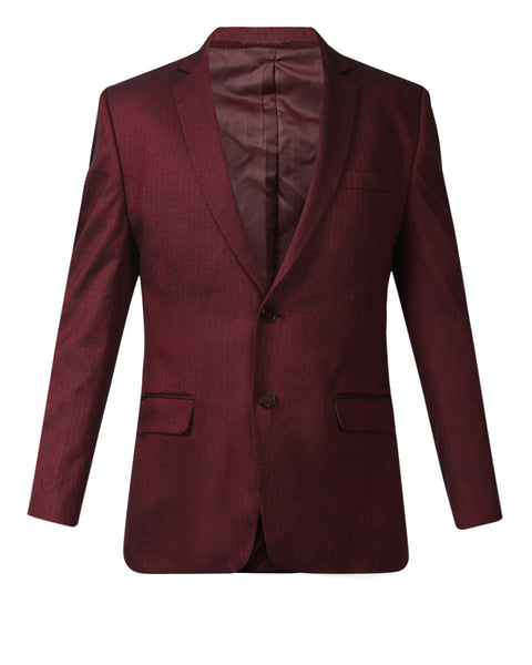 Park Avenue Maroon Slim Fit Blazer