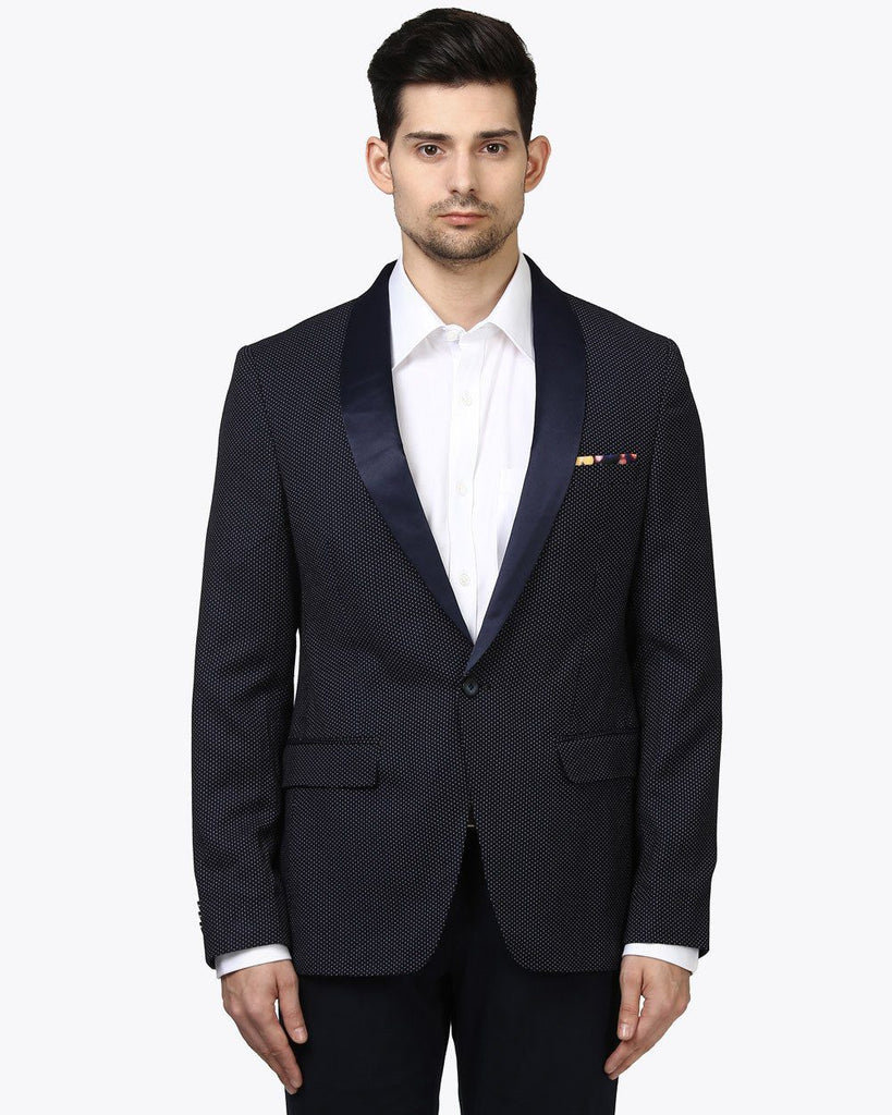 Park Avenue Blue Super Slim Fit Jacket