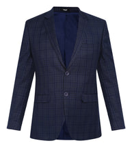 Park Avenue Dark Blue Super Slim Fit Blazer