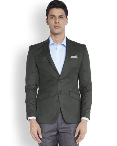 Park Avenue  Grey Regular Fit Jacket