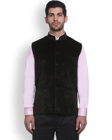 Park Avenue Brown Regular Fit Nehru Jacket