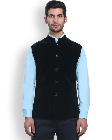 Park Avenue Grey Regular Fit Nehru Jacket