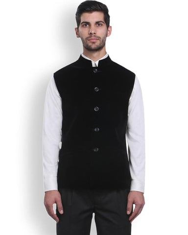 Park Avenue Violet Regular Fit Nehru Jacket