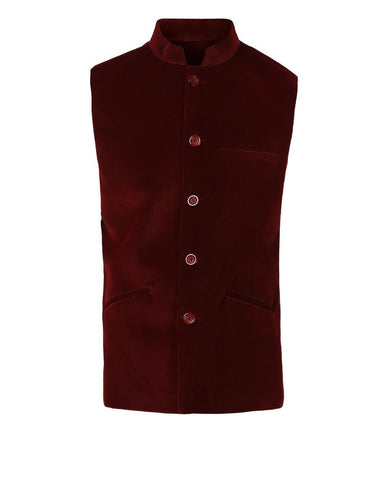 Park Avenue Dark Red Regular Fit Jacket