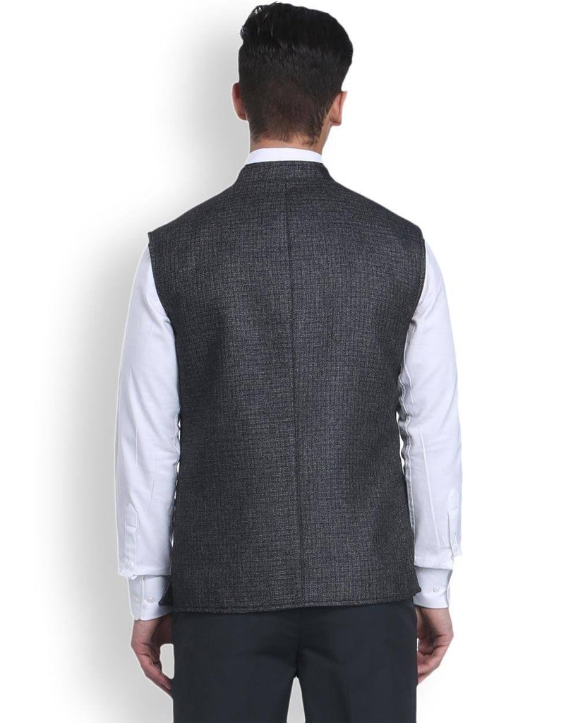 Park Avenue Grey Super Slim Fit Nehru Jacket