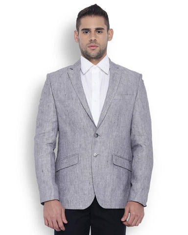 Park Avenue Men Polyester Dark Grey Regular Fit Jackets