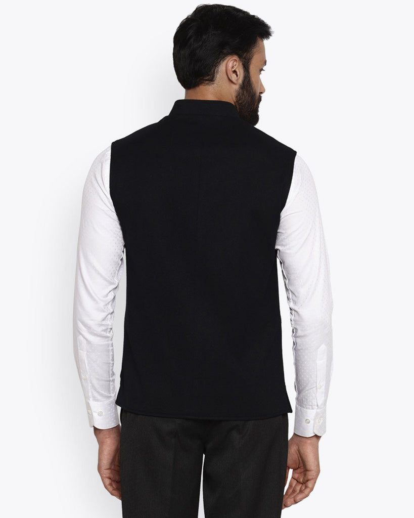 Park Avenue Black Super Slim Fit Jacket