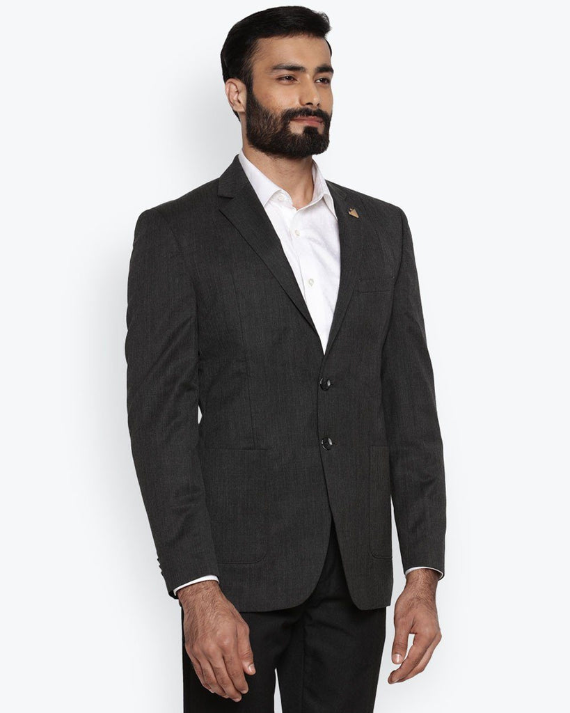 Park Avenue Dark Grey Super Slim Fit Jacket