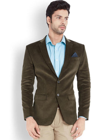 Park Avenue Green Regular Fit Jacket