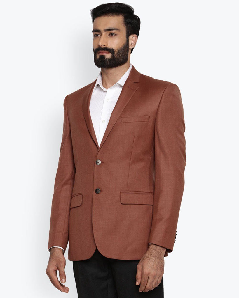 Park Avenue Medium Orange Regular Fit Jacket