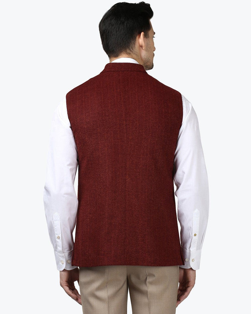 Park Avenue Red Slim Fit Jacket