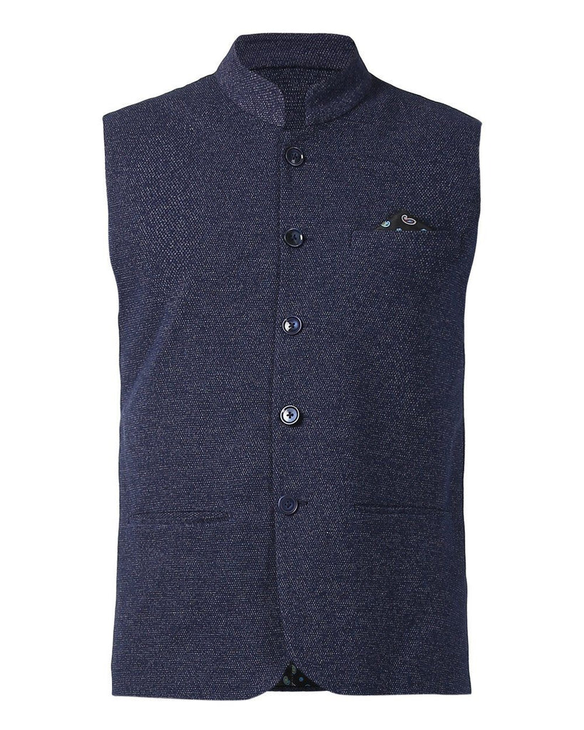 Park Avenue Blue Slim Fit Jacket