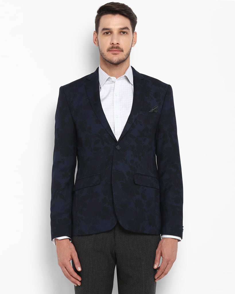 Park Avenue Dark Blue Neo Fit Blazer