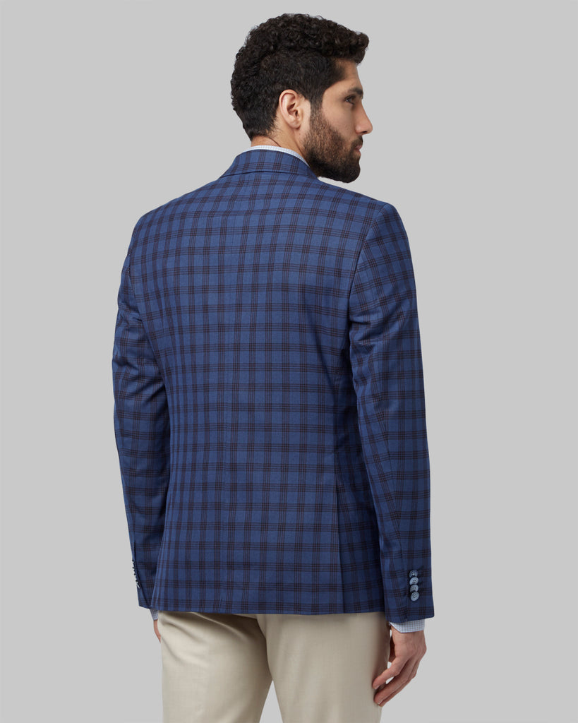 Park Avenue Blue Regular Fit Blazer