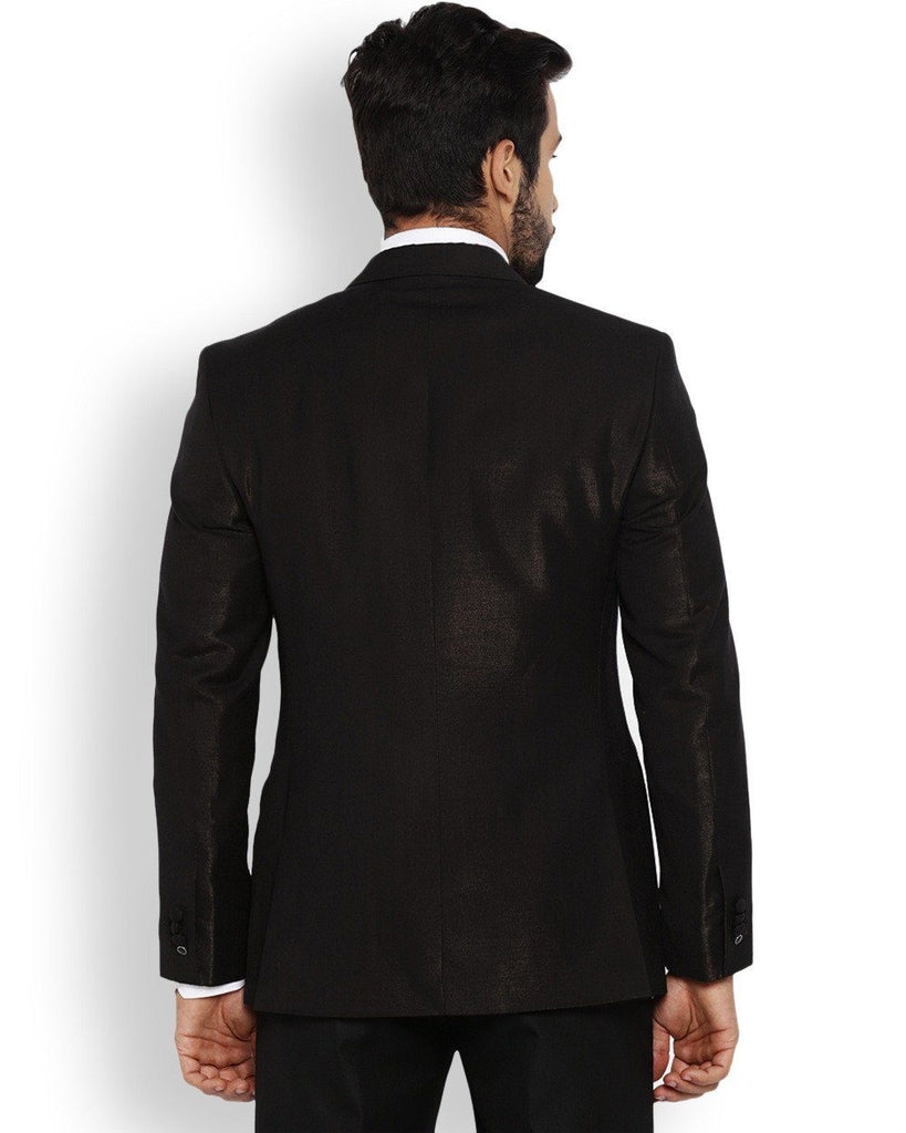 Park Avenue  Black Regular Fit Jacket