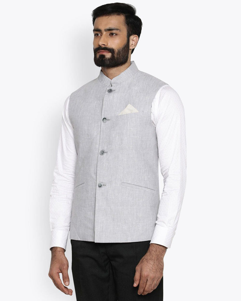 Park Avenue Medium Grey Regular Fit Jacket