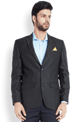 Park Avenue  Black Slim Fit Jacket