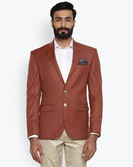 Park Avenue Dark Orange Super Slim Fit Jacket