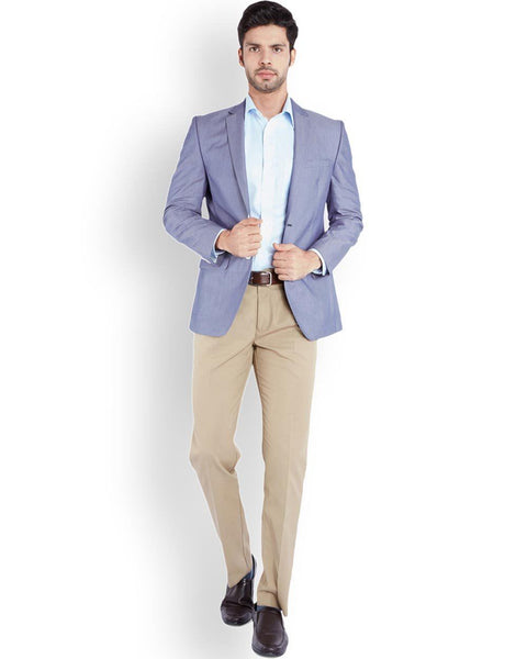 Park Avenue  Blue Regular Fit Jacket
