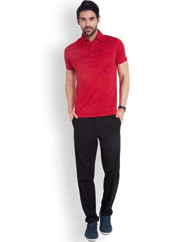Park Avenue  Red Slim Fit T-Shirt