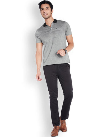Park Avenue  Grey Slim Fit T-Shirt