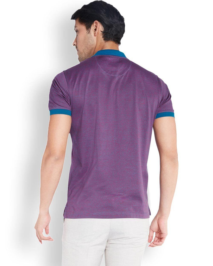 Park Avenue  Purple Slim Fit T-Shirt