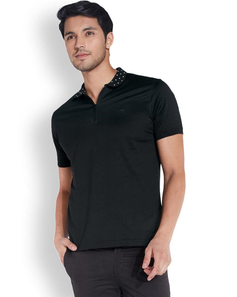 Park Avenue  Black Slim Fit T-Shirt