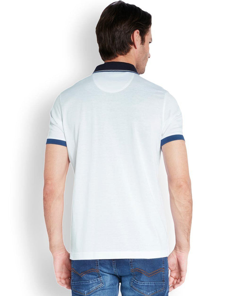 Park Avenue  White Slim Fit T-Shirt