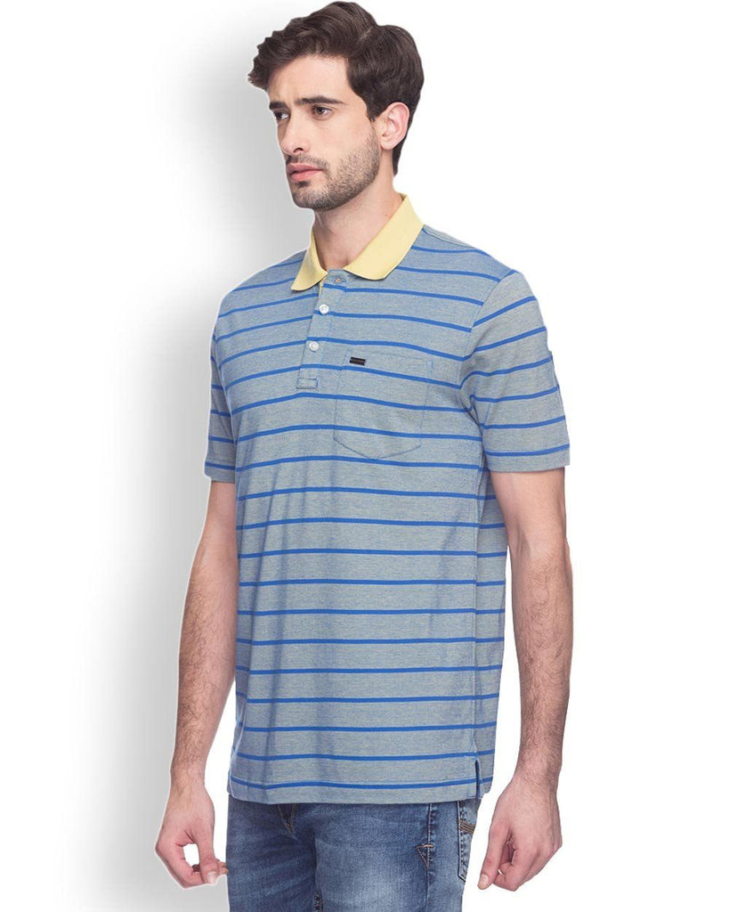 Park Avenue  Blue Slim Fit T-Shirt